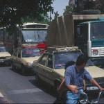 Pies, autobuses y taxis en Marrakech