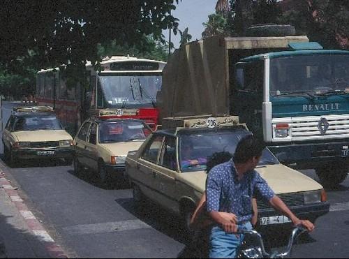 Transito en Marrakech