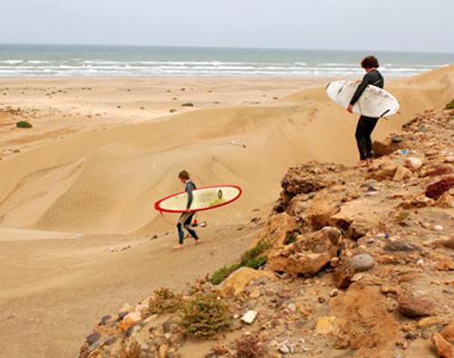 Plage Blanche, el Sahara se encuentra con el mar