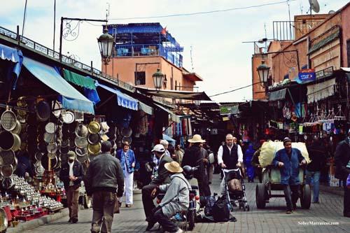 En el zoco de Marrakech