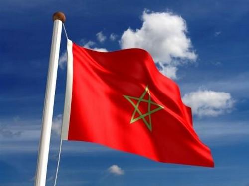 La bandera nacional de Marruecos
