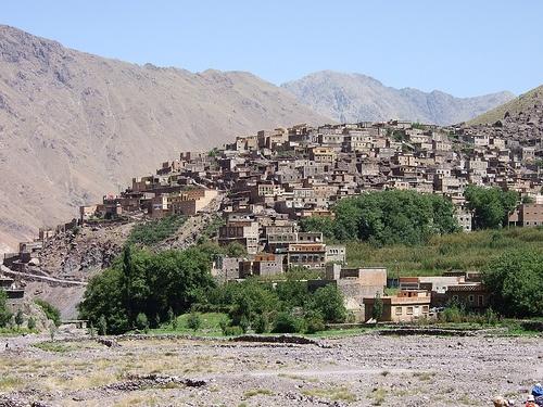 Poblacion en Atlas en Marruecos
