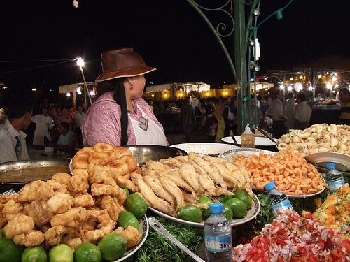 Puestos de comida en Jemma El Fna