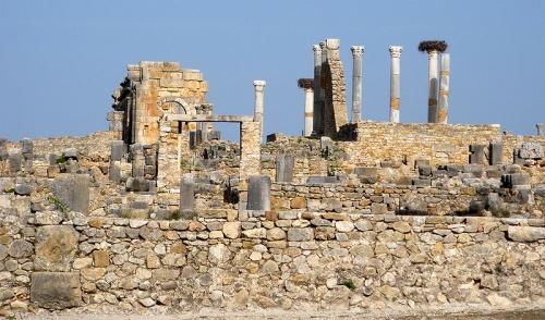 Volubilis, ruinas romanas en el norte de Marruecos