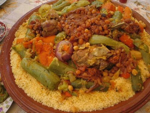 Presentacion del cuscus de Marruecos