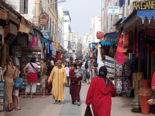 Calle en la Medina de Essaouira