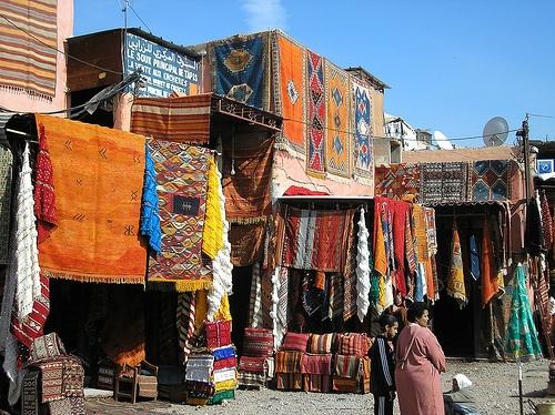 Arte en alfombras en Marruecos