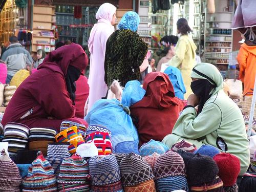 Tradicionales vestidos bereberes