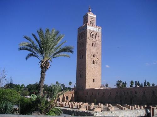 Mezquita de Koutoubiya en la medina de Marrakech