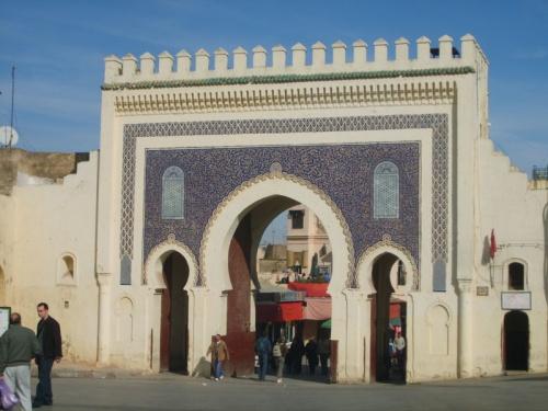 Puerta Bab Boujlloud en Fez