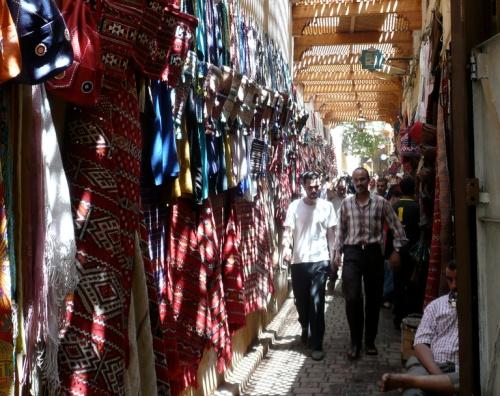 Mercado cubierto en Fez