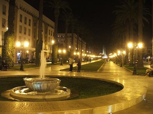 Avenida Mohammed V en Rabat