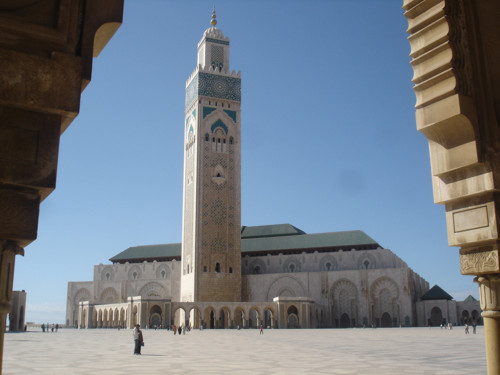 La mezquita de Hassan II, moderna y monumental