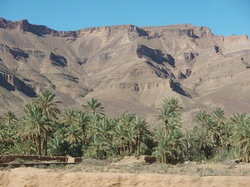 Valle Draa en el sur de Marruecos