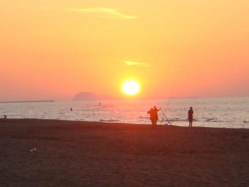 Atardecer en las playas de Saidia