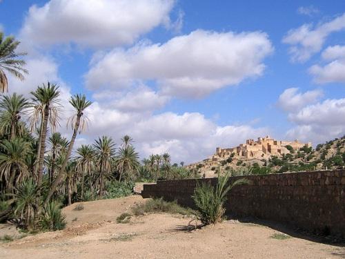 Tioute, oasis de película cerca a Taroudant