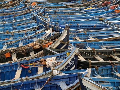 Pasear y comer en el puerto de Essaouira