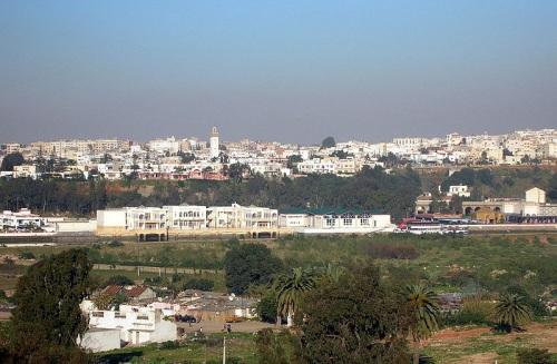 Salé, con Rabat al otro lado del río