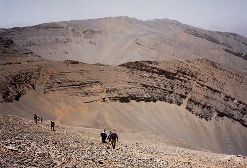 Paisajes inhóspitos en la montaña M'Goun
