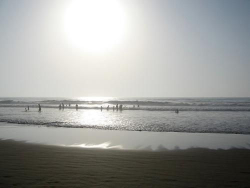 Playa de Mehdiya, al norte de Rabat